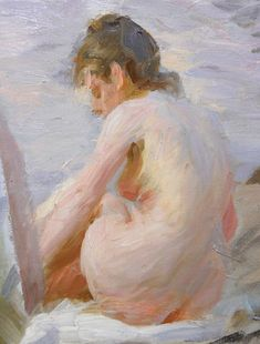 More masterpieces by Anders Zorn with detail pics, photographed last summer while visiting Zorn museum.      In Wikström's studio, 82x60.5 ...