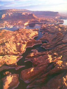 The canyons of Lake Powell on the AZ/UT border. Lake Powell Houseboat, Forever Travel, Glen Canyon Dam, Beautiful Places To Travel, Places Around The World, Amazing Nature, Vacation Spots, The Great Outdoors, Places To See