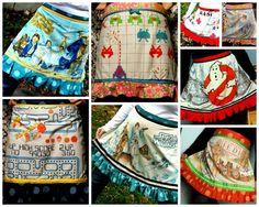 Vintage geek fabrics from Razorbloom on Etsy