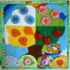 Мягкая развивающая книжка для детей - Зайка - Рукоделие - Babyblog.ru