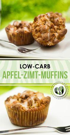 Die leckeren Apfel-Zimt-Muffins sind low-carb und glutenfrei. Außerdem passen sie auf jede Party oder Kaffeekränzchen. Das Rezept findet ihr auf www.schwarzgrueneszebra.de
