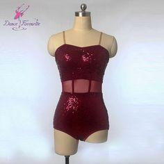 New arrival girls sparkling sequin leotard for ballet or latin dancing child and adult sizes available burgundy leotards DFT002