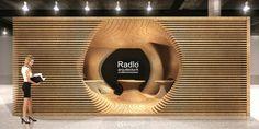 Como parte de un concurso de diseño para el Radio Arquitectura, Juan José Barrios diseñó un stand de 18 metros cuadrados que se presentó en Habitat expo.