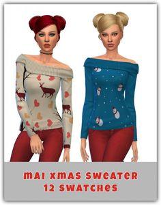 Maimouth: Mai Xmas Sweater • Sims 4 Downloads