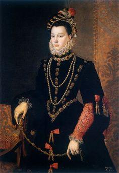 Retrato de Isabel de Valois (1562), de Sofonisba Anguissola (pintora renacentista). Fue la tercera esposa de Felipe II
