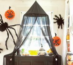 black canopy with stars over buffet - pottery barn kids 2009