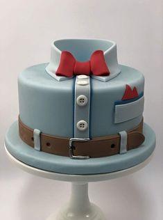 Fondant Man, Bolo Fondant, Fondant Cakes, Cupcake Cakes, Birthday Cakes For Men, Birthday Cupcakes, Dad Cake, Shirt Cake, Fathers Day Cake