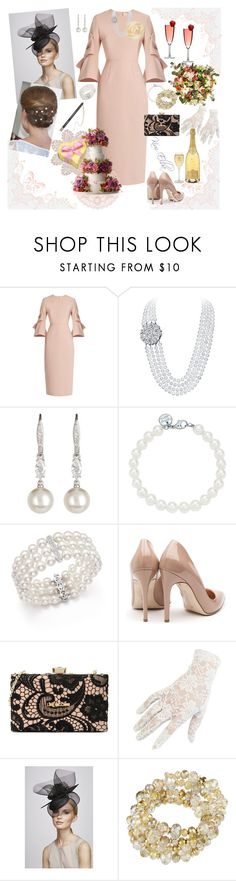 """""""Untitled #174"""" by kim-elba ❤ liked on Polyvore featuring Roksanda, Nadri, Tiffany & Co., Bloomingdale's, Rupert Sanderson, Love Moschino, Black, Juliette Botterill Millinery and Alice by Temperley"""