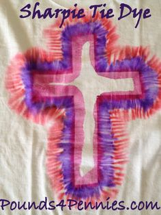 Sharpie Tie Dye T-Shirts - Super easy fun kid craft for summer. With Tie Dye designs an tie dye patterns. Tie dye with sharpie marker. Easy to make tie dye. Easy Crafts For Kids Fun, Craft Activities For Kids, Summer Crafts, Craft Ideas, Summer Fun, Quick Crafts, Church Activities, Preschool Ideas, Summer Activities