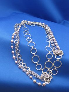 Multistrand chain and pearl necklace. $25.00, via Etsy.
