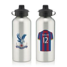 Personalised Crystal Palace Aluminium Water Bottle (600ml) #CrystalPalace #FootballGifts #Football £12.99