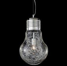 Design Glas Takpendel 1x Ljuskällor / Aluminium