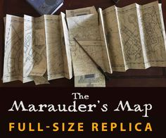 Last Halloween I posted an instructable on how to create a miniature replica of the Marauder's Map from Harry Potter. The miniature version is only about 7 inches tall.Well, this year I decided to take it a little further and create a full size replica of the map. I'm very pleased with how it turned out, and I hope you all enjoy making it as much as I did!The miniature is quicker to make, however it looks like it's over 50% smaller. This full size replica is essentially exactly the same as…