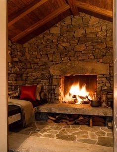 Love this for terrace level fireplace