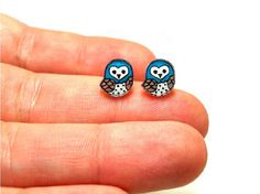 Lil' Owls (Choose Your Color), Post Earrings