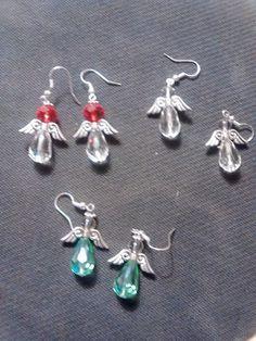 Christmas angel earrings.