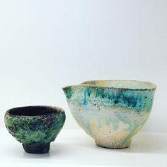 阪本さん作ぐい呑と片口片口もいろいろ来てます阪本健個展は明後日12/3(土)からですお楽しみに #織部 #織部下北沢店 #陶器 #器 #ceramics #pottery #clay #craft #handmade #oribe #tableware #porcelain