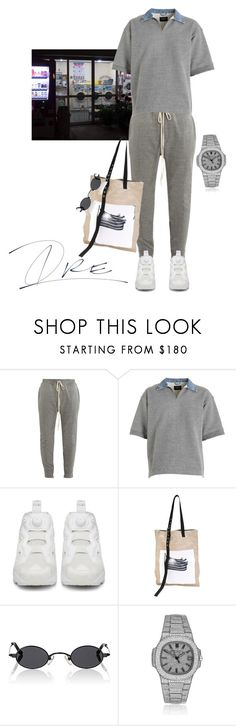 """""""Chill Wit Me"""" by stylinwitdre ❤ liked on Polyvore featuring Fear of God, Reebok, Raf Simons, Roberi & Fraud, Patek Philippe, men's fashion and menswear"""