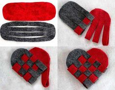 DIY Valentine's Day Gift - Felt Heart - Find Fun Art Projects to Do at Home and Arts and Crafts Ideas Diemer could even make blue and gold ones! Cute Valentines Day Ideas, Valentines Day Decorations, Valentine Day Crafts, Saint Valentin Diy, Felt Roses, Heart Diy, Diy Gifts, Handmade Gifts, Handmade Bookmarks