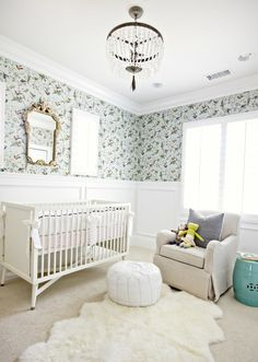 Benjamin Moore Color of The Year 2016 - Anything But Simple - laurel home | fabulous nursery by Studio McGee (link on laurel home) Cole and Son Humming Bird Wallpaper also available at Anthropologie