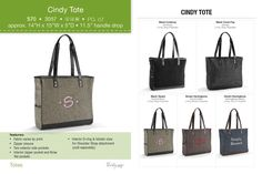 Holds office files, wallets and more! Also good for a diaper bag option!