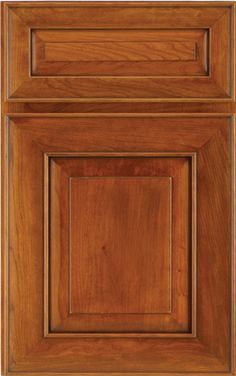 Valencia Raised Panel - Available in Maple and Cherry. Shown in Cherry with a Pecan Glazed Burnish finish.