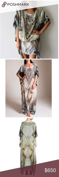 Selling this Camilla a sky of shadows silk caftan kaftan prom on Poshmark! My username is: honeyissweet. #shopmycloset #poshmark #fashion #shopping #style #forsale #Camilla #Dresses & Skirts