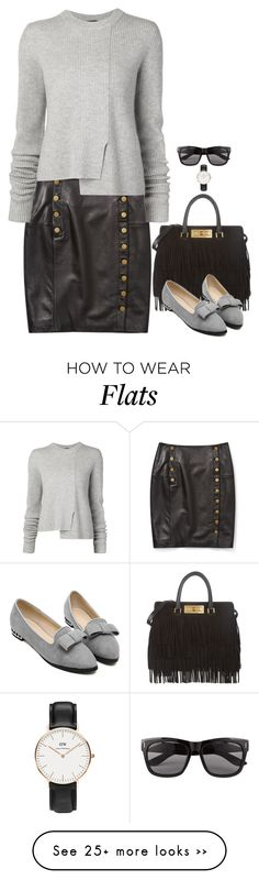 """""""Untitled #3519"""" by miki006 on Polyvore featuring Rebecca Minkoff, Proenza Schouler, Yves Saint Laurent, Vero Moda and Daniel Wellington"""