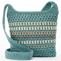 Croft & Barrow® Crochet Harmony Umhängetasche, Damen, Valley Stripe NOK) … – Purses And Handbags Totes Crochet Purse Patterns, Crochet Clutch, Crochet Handbags, Crochet Purses, Sewing Patterns, Tote Pattern, Crochet Ideas, Crochet Shell Stitch, Bead Crochet