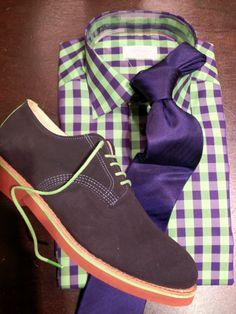 Purple + Neon + Brown