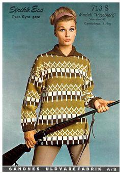 Ingeborg 713 S Norwegian Knitting, Vintage Knitting, Knitwear, Knitting Patterns, Vest, Wool, Retro, My Style, Blouse