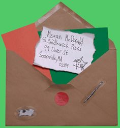 Ever wanted to write a letter to the author of one of your favorite books? Here's the address for Megan McDonald (author of Judy Moody Stink books) for all you fans out there! Cool Writing, Letter Writing, Character Activities, Judy Moody, Somerville Ma, Fan Out, Reading Workshop, Book Characters, Childrens Books