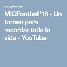 Check out this great film about the MIC football tournament in the Costa Brava, then give us a call and we'll arrange for your football team to compete in next year's event!  Tel + 44 208 772 6446  Or visit us to find out more:  www.clubeurope.co.uk Football Tournament, Football Team, Netball, Great Films, Costa, Youtube, How To Find Out, Tours, Check