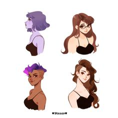 Overwatch girl hairstyles