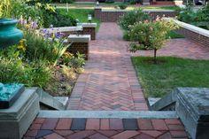 Paver Walkway in a Formal Garden