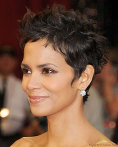 Curly Faux Hawk Pixie Cut | The 10 Best Celebrity Hairstyles from the 2011 Oscars