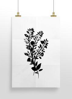 Botanical Print by Cocorrina - Free Printable Wall Art Roundup