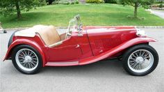 Vintage Sports Cars, British Sports Cars, Vintage Cars, Antique Cars, Convertible, Mg Cars, British Car, Lavender Fields, Collector Cars