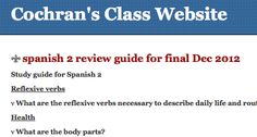 Cochran's website - review materials on Spanish readers