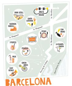 OUR BARCELONA TRIP! The perfect map! #kidandcoe #bringthekids