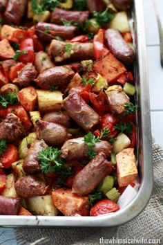 One Pan Devilled Sausage Bake | The Whimsical Wife