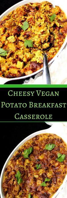 Cheesy Vegan Breakfast Potato Casserole - holycowvegan.net