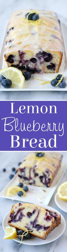 Blueberry Bread Sweet, tart and oh so delicious! Lemon Blueberry BreadSweet, tart and oh so delicious! Lemon Desserts, Lemon Recipes, Just Desserts, Baking Recipes, Delicious Desserts, Dessert Recipes, Yummy Food, Bread Recipes, Health Desserts