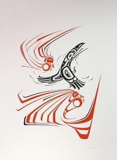 Wind (1977) by Ken Mowatt, Gitxsan artist (KM1977-01)
