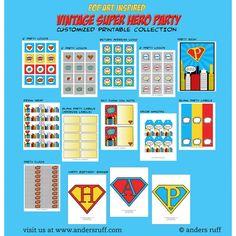 Vintage Super Hero Printable Collection