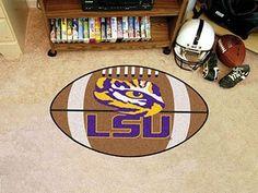 """Louisiana State University Football Mat 20.5"""""""" X 32.5"""""""""""