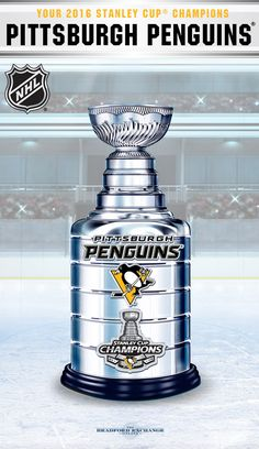 1b24d544ff6af Champion the Pittsburgh Penguins epic win with this commemorative 2016  Stanley Cup trophy sculpture. Hurry