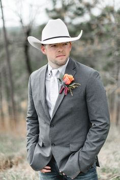 This Country Wedding For 24K Will Blow Your Mind Country Wedding Groomsmen, Rustic Groomsmen Attire, Country Style Wedding, Country Wedding Dresses, Groom And Groomsmen, Country Weddings, Cowboy Groomsmen, Cowboy Wedding Attire, Country Groom Attire