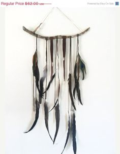 caravan. a bohemian feather wall hanging // spirit by SpiritTribe