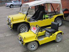 Mini Moke and Mini Me Go Kart, Mini Me, Flower Beds, Dream Cars, Euro, Dan, Classic Cars, Trucks, Vehicles